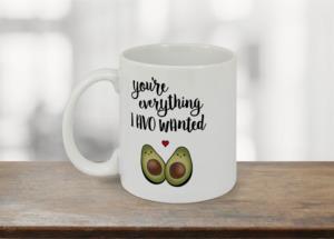 Cute Avocado Couple Custom Mug