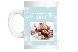 Light Blue Sky Family Photo Mug