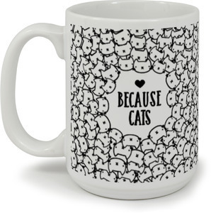 Cute Whimsical Cats Pattern Mug