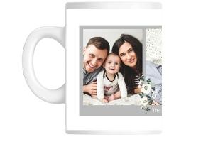 Simple Gray Border Collage Custom Mug