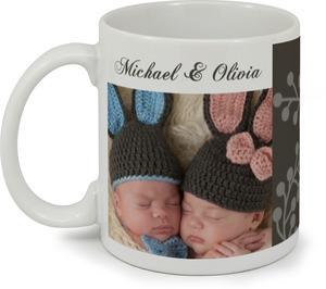 Sophisticated Pink and Brown  Coffee Mug