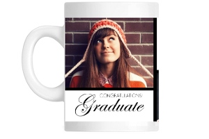 Gold and Black Photo Graduation Mug