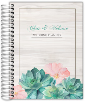 Whimsical Watercolor Succulents Wedding Planner
