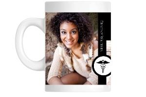 Black and White Elegant Nursing Coffee Mug