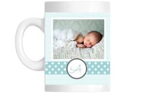 Blue Stripes And Dots Mug