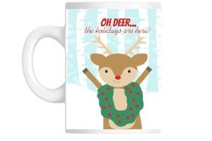 Oh Deer Funny Holiday Custom Mug