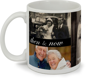 Black Then and Now Anniversary Mug