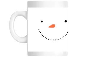 Cute Holiday Frosty Snowman Custom Mug