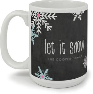 Chalkboard Snowflakes Mug