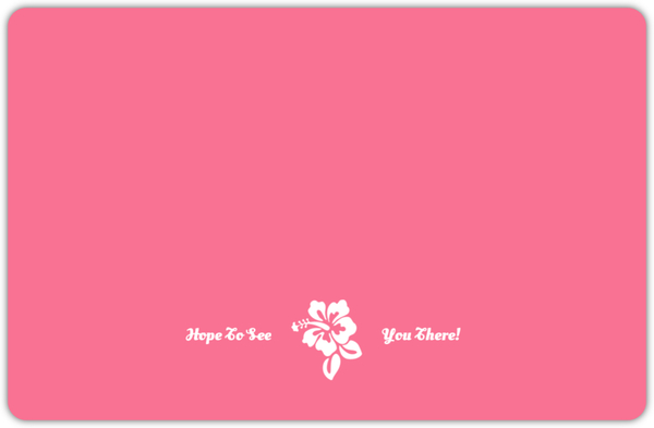 Pink Hawaiian Flowers Graduation Invitation