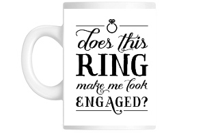 Engagement Ring Custom Coffee Mug