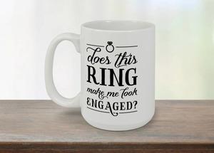 Engagement Ring Coffee Mug