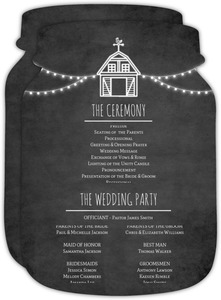 Rustic Barn Wedding Program