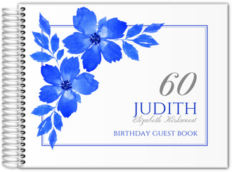 Royal Blue Formal Birthday Guest Book