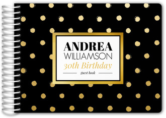 Black and Gold Surprise Birthday Guest Book