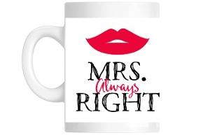 Red Lips Mrs. Custom Mug