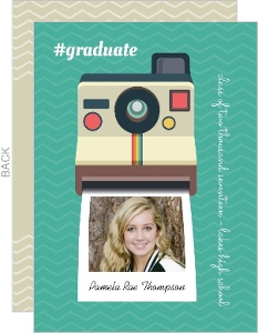 Polaroid Camera Graduation Photo Announcement