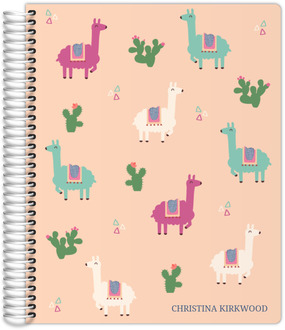 Llama And Cactus Weekly Planner