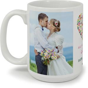 Floral Heart Custom Mug