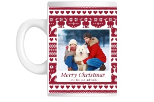 Red Sweater Pattern Custom Mug