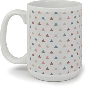 Muted Triangle Pattern Custom Mug