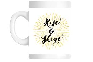 Rise And Shine Sun Burst Custom Mug