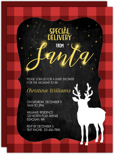 Delivery From Santa Baby Shower Invitation