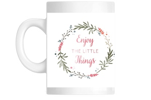 Whimsical Watercolor Foliage Little Things Coffee Mug