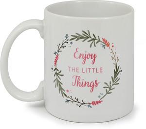Whimsical Watercolor Foliage Little Things Coffee Mug