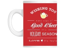 Red Eggnog Holiday Mug