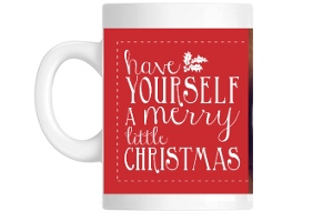 Ruby Red And White Lettering Coffee Mug