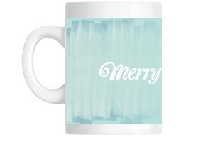 Blue Water Color Santa Mug