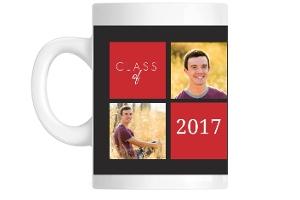Gray and Red Graduation Mug
