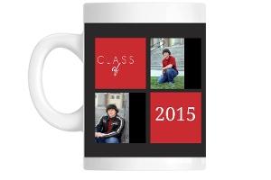 Gray And Red Set Custom Mug