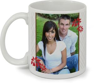Red Joyful Poinsettia Christmas Custom Mug