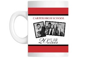 Classic Red And White 20 Year Mug