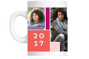 Color Block Graduation Mug