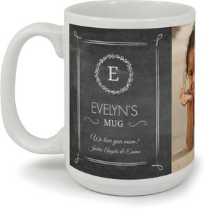 Personalized Chalkboard Monogram Mug