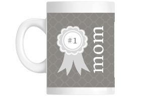 Best Mom Quatrefoil Pattern Custom Mug