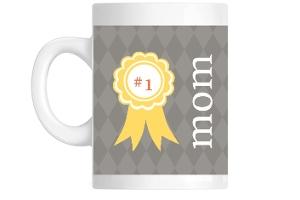 Orange Texture 1 Mom Mug
