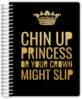 Princess Crown Daily Planner - Soft Cover, 6X8
