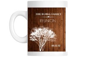 Rustic Woodgrain Family Reunion Custom Mug