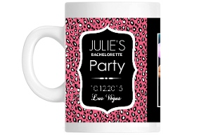 Pink Leopard Bachelorette Party Custom Coffee Mug