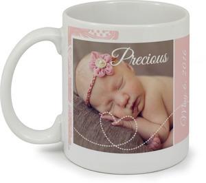 Pink Lace Mug