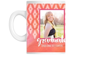 Aztec Watercolor Graduation Mug