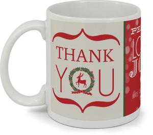 Classic Photo Grid Thank You Coffee Mug