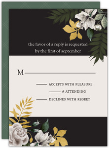 Romantic Floral Wedding Response Card