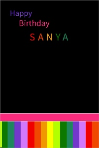 Bright Birthday Poster For Guests To Sign