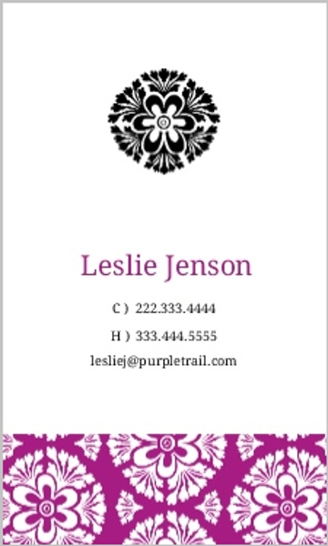 Purple and White Pattern Business Card