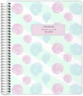 Soft Pastel Paint Daubs Custom Planner 8.5x11